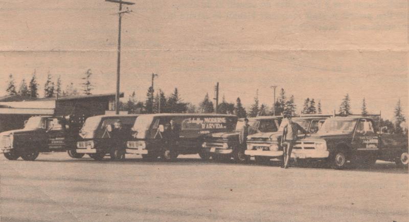 Chauffage moderne Flotte de camions