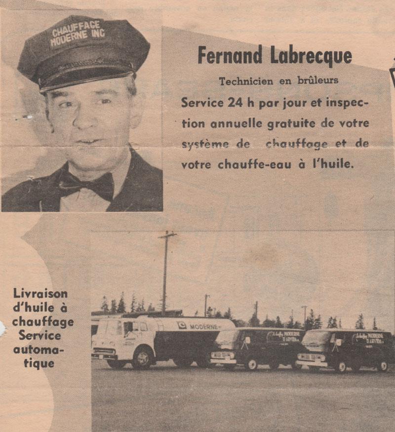 Chauffage moderne Fernand Labrecque